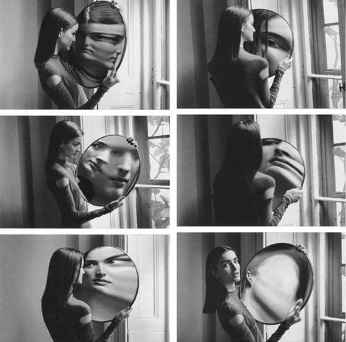 Dr. Heisenberg Magic Mirror of Uncertainty, 1998 © Duane Michals